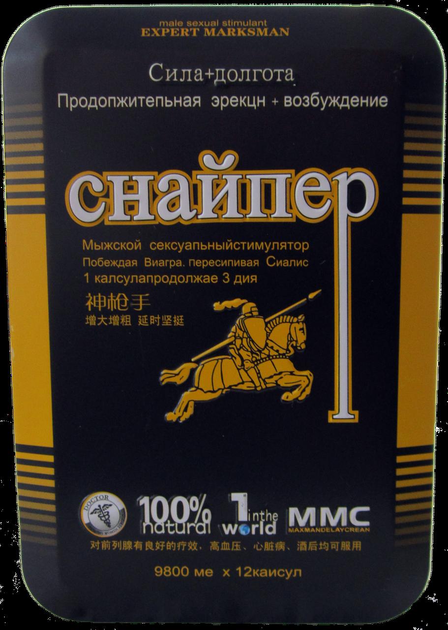 Препарат для потенции Снайпер стимуляция без побочных эффектов