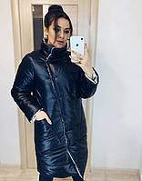 Теплая зимняя двусторонняя женская куртка