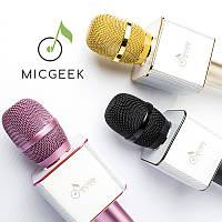 ОРИГИНАЛ! Микрофон караоке с колонками MicGeek Q9 Блютуз, Беспроводной / Лучший детский подарок, фото 1