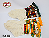 Женские зелёные носки из настоящей овечьей шерсти Гойра, фото 4