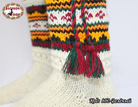Женские зелёные носки из настоящей овечьей шерсти Гойра, фото 3