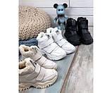 Зимние  спортивные кроссовки на липучках, фото 2