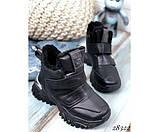 Зимние  спортивные кроссовки на липучках, фото 3