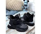 Зимние  спортивные кроссовки на липучках, фото 4
