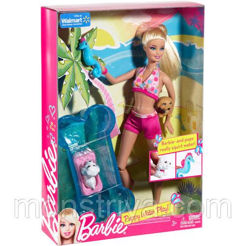 Barbie Игровой набор Барби с щенками в аквапарке