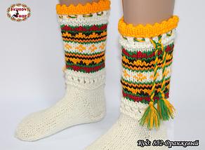 Женские оранжевые носки из настоящей овечьей шерсти Гойра, фото 3