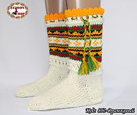 Женские оранжевые носки из настоящей овечьей шерсти Гойра