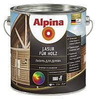 Лазурь для древесины Alpina Lasur für Holz Ebenholz, 2.5л, белый