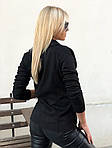 Женская куртка, замш - стрейч, р-р 42-44; 46-48 (чёрный), фото 4