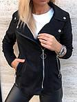 Женская куртка, замш - стрейч, р-р 42-44; 46-48 (чёрный), фото 3