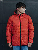 Куртка мужская черная оранжевая двусторонняя осенняя демисезонная Staff Стафф