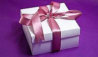 "Коробочка ""Подарочная"" белая М0027-о1, размер: 140*140*70 мм, фото 1"