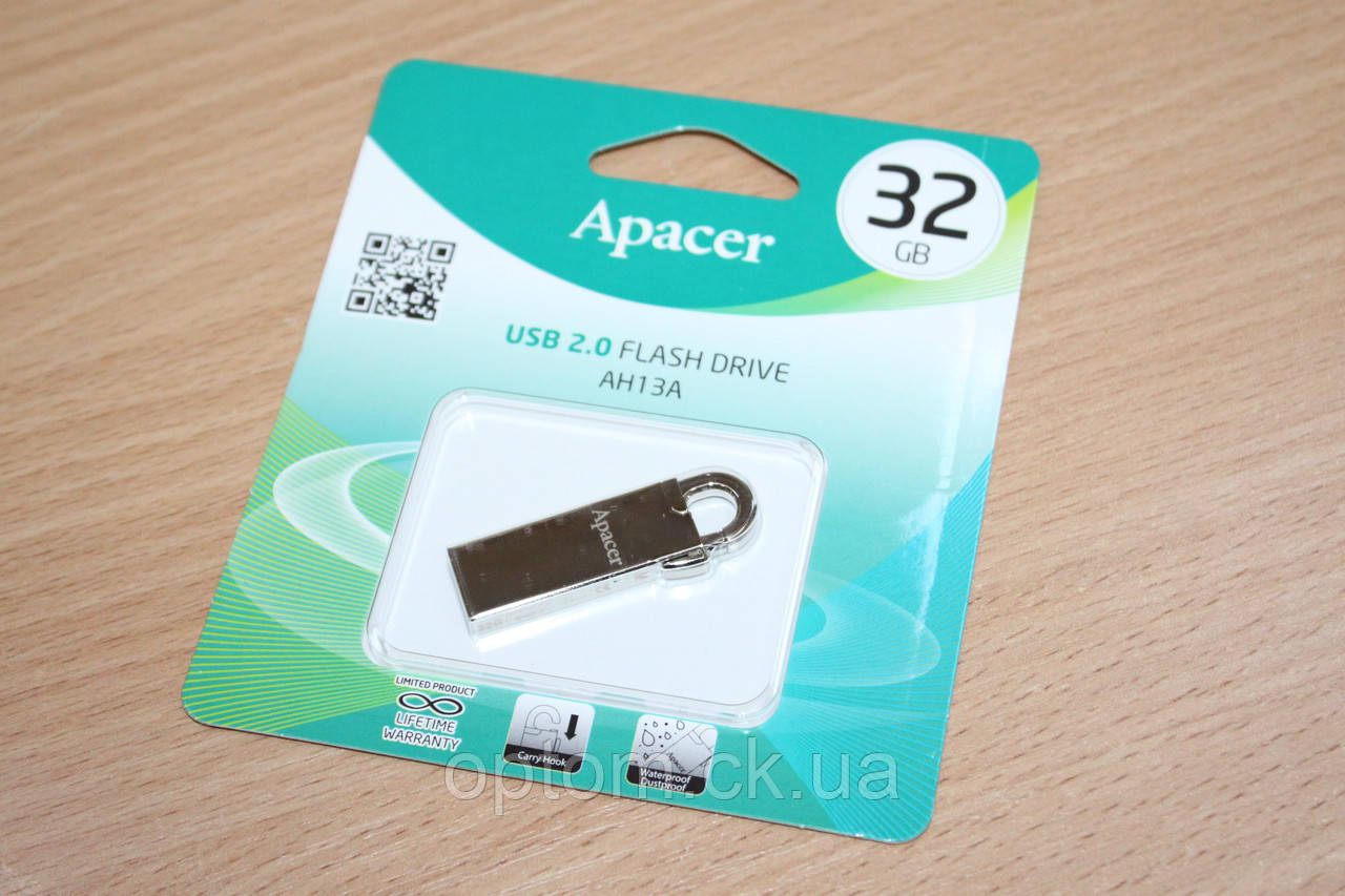 Флешка USB Apacer AH13A 32Gb Silver