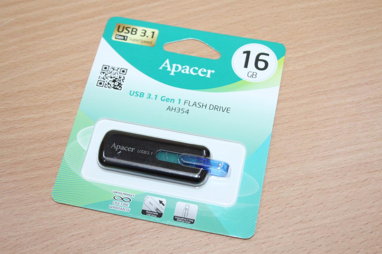 Флешка USB 3.0 Apacer AH354 16Gb White