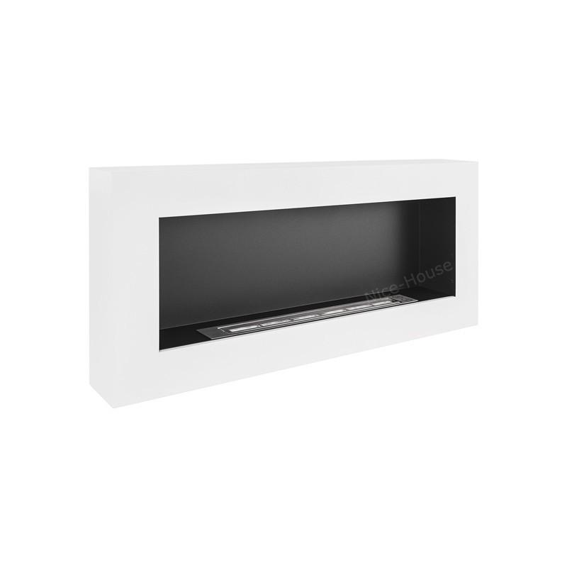 Биокамин белый BOX 90x40cm серии Nice-House