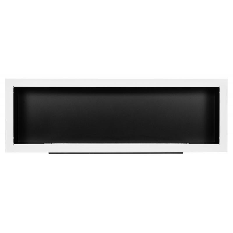 Биокамин белый S-Line 3D 120x40cm серии Nice-House