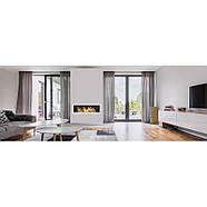 Биокамин белый S-Line 3D 120x40cm серии Nice-House, фото 10
