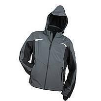 Куртка демисезонная KURTKA ZIMOWA SOFTSHELL SF-1041ANTRACIT из полиэстера с флисовая покладка. Urgent (POLAND)