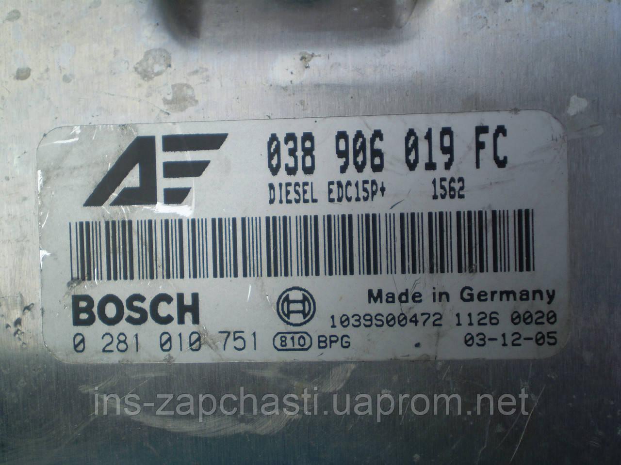 VAG 038 906 019 FC Блок упраления дизельного двигателя Alhambra Sharan