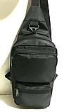 Мужские сумки мессенджеры через плечо (ЧЕРНЫЙ)18*40см, фото 3