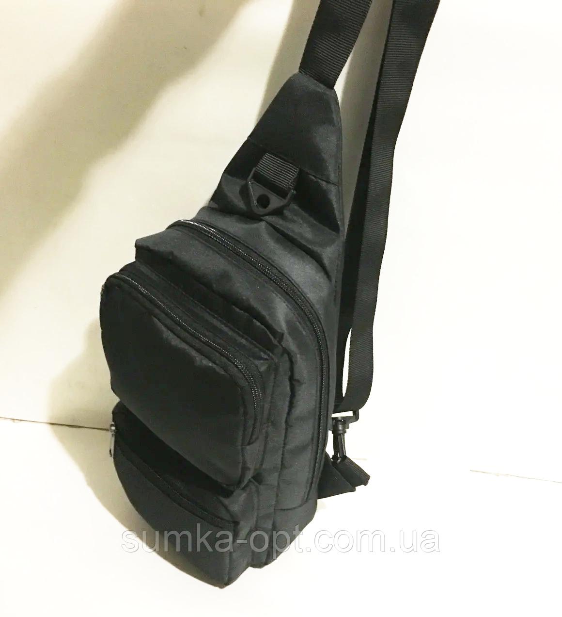 Мужские сумки мессенджеры через плечо (ЧЕРНЫЙ)18*40см