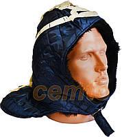 Подшлемник на завязках утепленный универсальный синий, фото 1