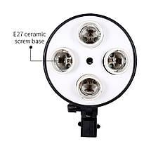 Постоянный студийный свет Е27 на 4 лампы  Софтбокс 50 x 70 см., фото 3