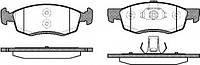Колодки тормозные передние Logan MCV REMSA, 0172.32
