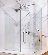 Скляна душова перегородка зі штангою прозора