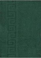 Махровое полотенце 70*140, 100% хлопок, 400 гр/м2, Туркменистан, зеленый бутылочный