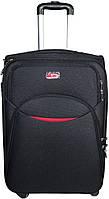 Тканевый средний чемодан 56 л. на 4-х колесах Suitcase 013754-black черный