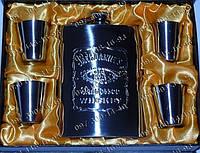 Подарочные наборы для мужчин Фляга Jack Daniels GT19 Походная фляга Фляга+4рюмки Набор подарочный фляга