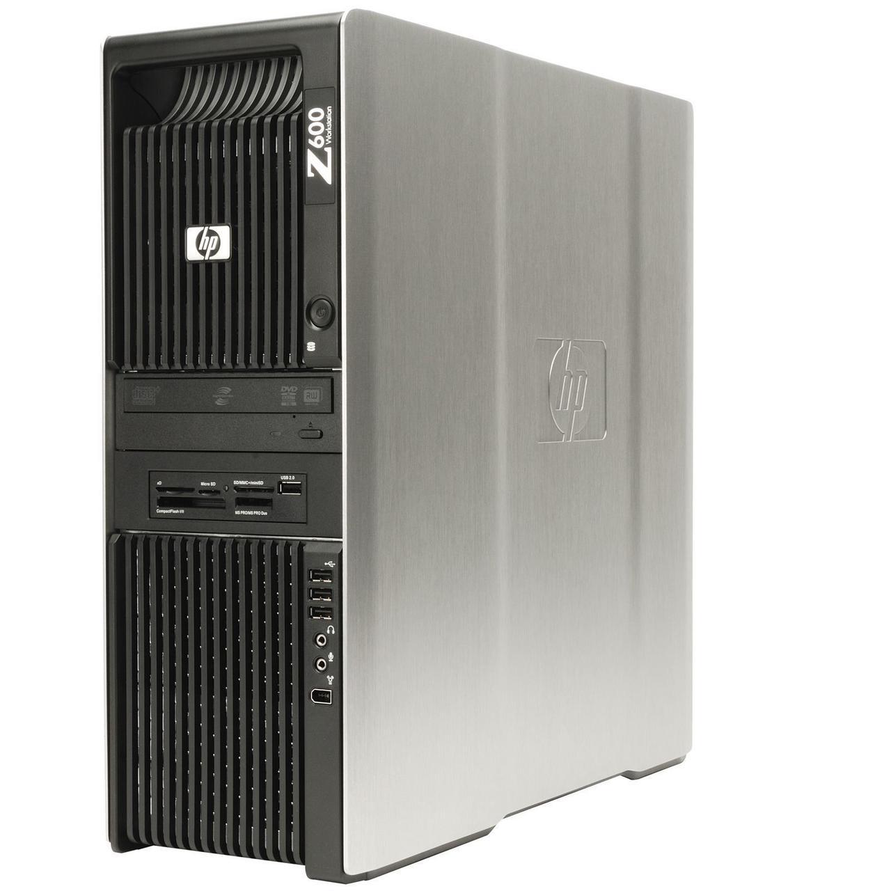 Сервер, Workstation, HP z600, 2x Intel Xeon x5650, 12 ядер по 3,06 GHz, 16 Гб ОЗУ, HDD 0 Гб, видео 256 Мб