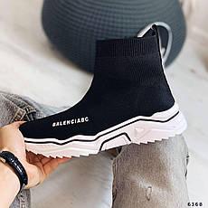 Кроссовки женские черные текстильные. Кросівки жіночі чорні, фото 2