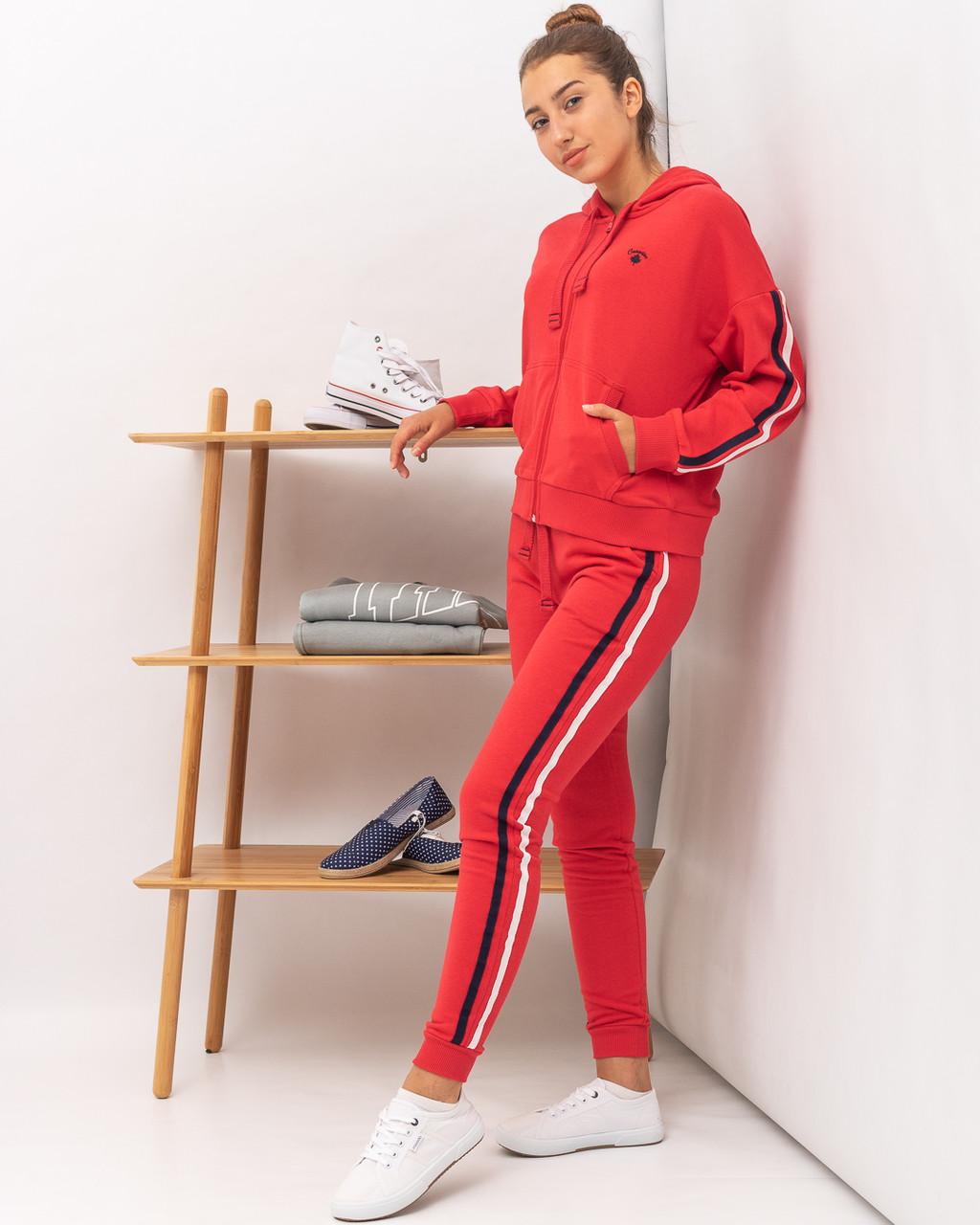 Костюм спортивный женский JOGGY J6533+ J6562 RED