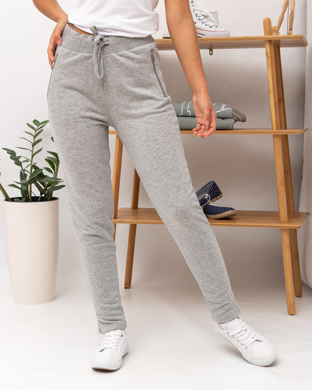 Спортивные брюки женские JOGGY J7355 GREY MEL