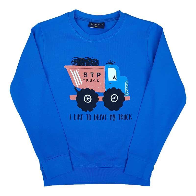 """Кофта для хлопчика """"I like to drive my truck"""" 80-98 (1-3 роки) 19033.0"""