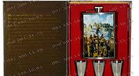 Подарочные наборы для мужчин Фляга TZ15-3 Походная фляга Фляга+3 рюмки Набор подарочный фляга Стильные подарки