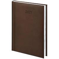 Ежедневник датированный в линию Brunnen 2021 Стандарт Torino, 336 страниц, А5 коричневый, фото 1