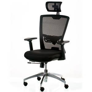 Компьютерное кресло Special4You Dawn черное ткань-сетка с подголовником регулируемым