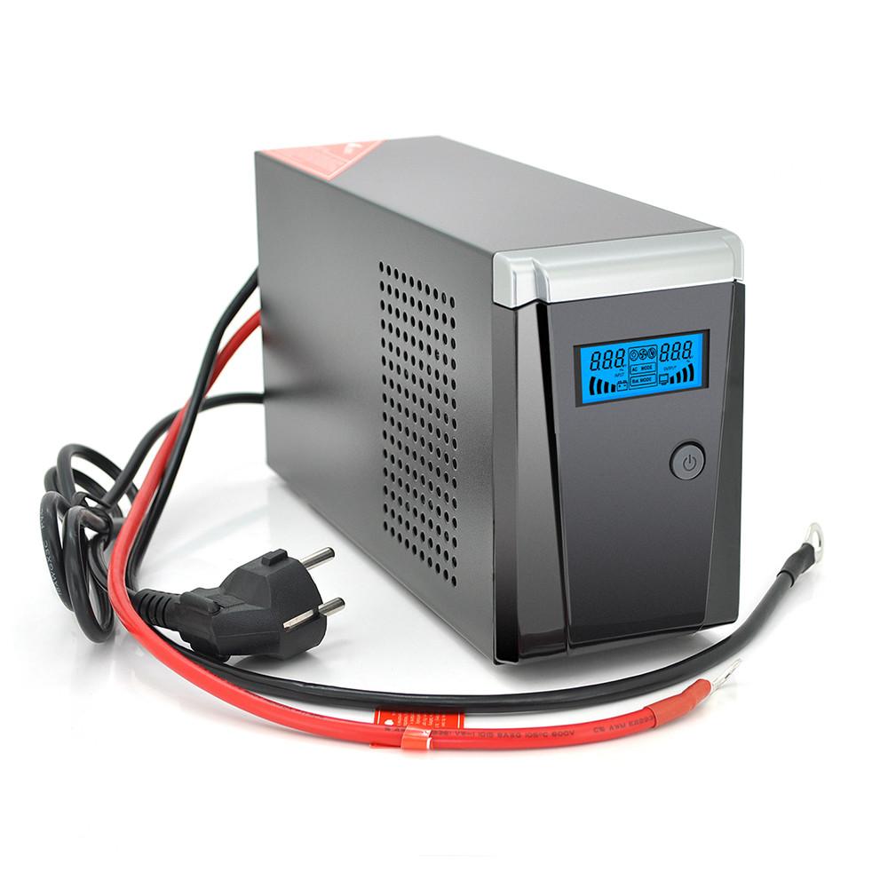 ДБЖ з правильною синусоїдою RITAR RTSW-500 LCD, 12В, під зовнішній АКБ, Q4  (320*132*210) 4,2 кг (260*85*140)