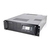 ДБЖ з правильною синусоїдою ONLINE RT-6KS-LCD, RACK 6000VA (5400Вт), 192 В, Вбудована батарея 12V 7,5 Ah х 16 шт (482 * 600 * 130), Q1