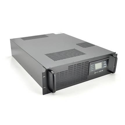 ДБЖ з правильною синусоїдою ONLINE RT-10KL-LCD, RACK 10000VA (9000Вт), 192В, Струм макс. 5A, під зовнішній АКБ, (482 * 600 * 130), фото 2
