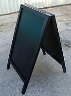 Штендер меловой двухсторонний, 100 х 60 см, черная рама