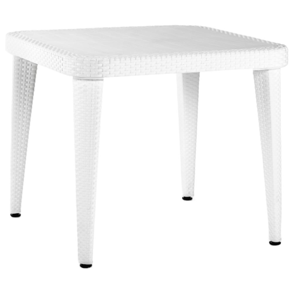 Стол Tilia Osaka 90x90 см ножки пластиковые белая слоновая кость