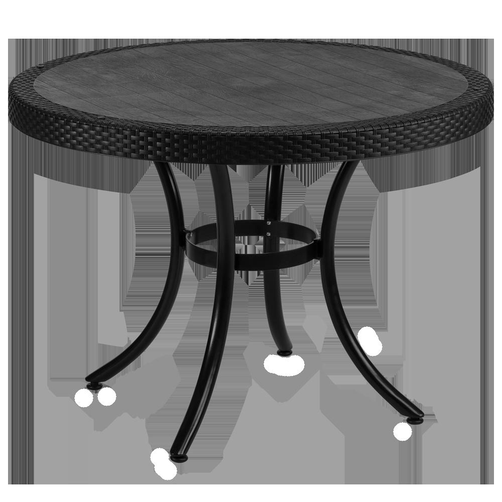 Стол Tilia Osaka d110 см ножки алюминиевые черный