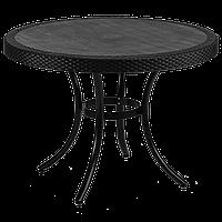 Стол Tilia Osaka d110 см ножки алюминиевые черный, фото 1