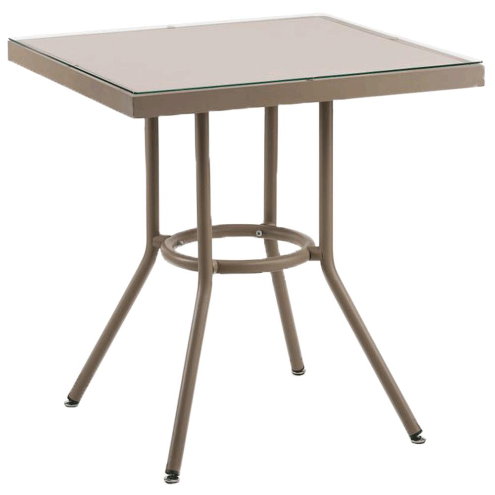 Стол Tilia Kobe 80x80 см столешница из стекла кофейный - бежевый - кофейный