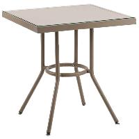 Стол Tilia Kobe 80x80 см столешница из стекла кофейный - бежевый - кофейный, фото 1