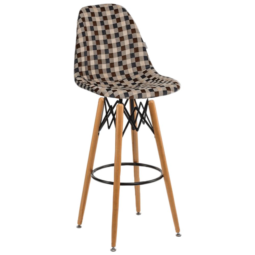 Стул барный Tilia Eos-V сиденье с тканью, ножки буковые ARTNUVO 46904 - V5